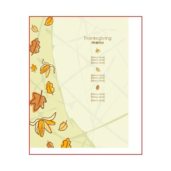 Great Thanksgiving Day Menu Templates to Entice and Enthrall Your Guests - menu templates free microsoft