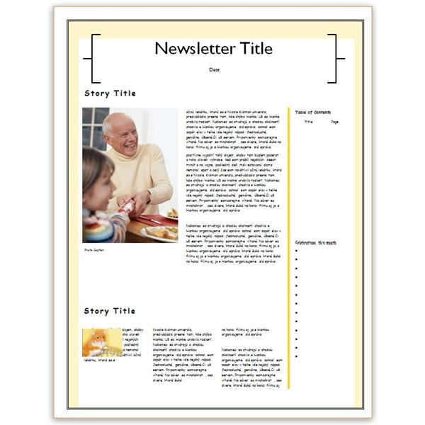 family reunion newsletter template