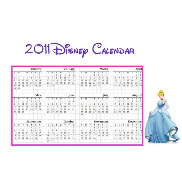 Free Kids Printable Disney Calendar Download and Learn How to Make
