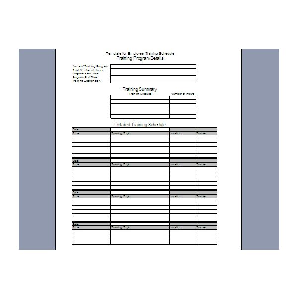 sample training schedule template trattorialeondoro - sample training plan