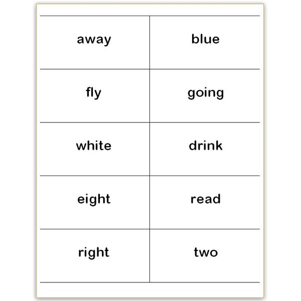 Where to Find and How to Make Printable Dolch Sight Word Wall Cards - dolch sight word flashcards