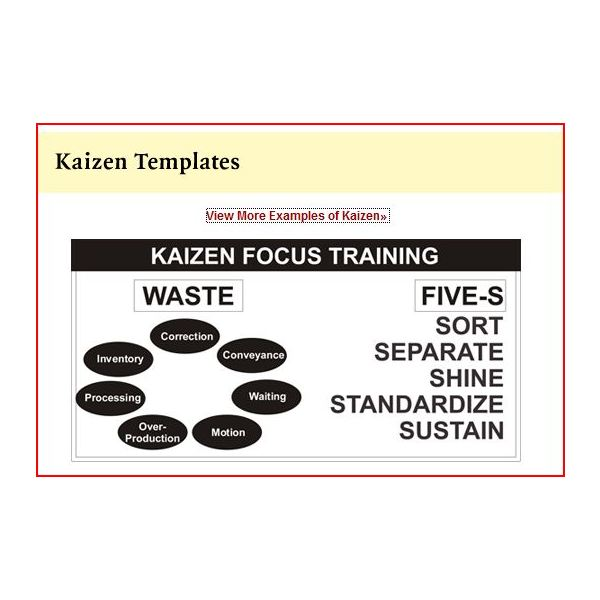 Free Kaizen Templates to Assist With Training and Implementation