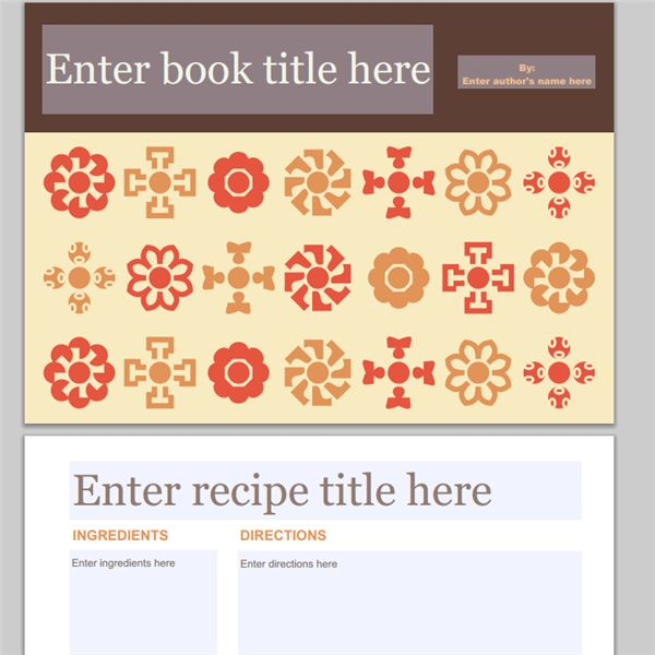 Collection of Free Cookbook Templates Great Layouts for Recipe and