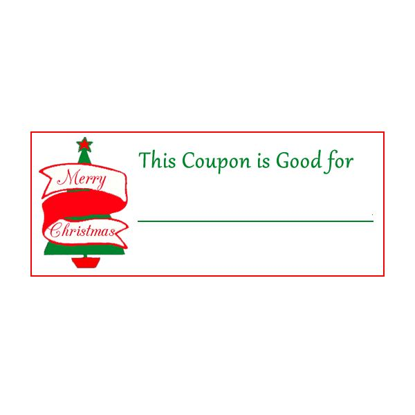christmas gift coupon template - coupon template