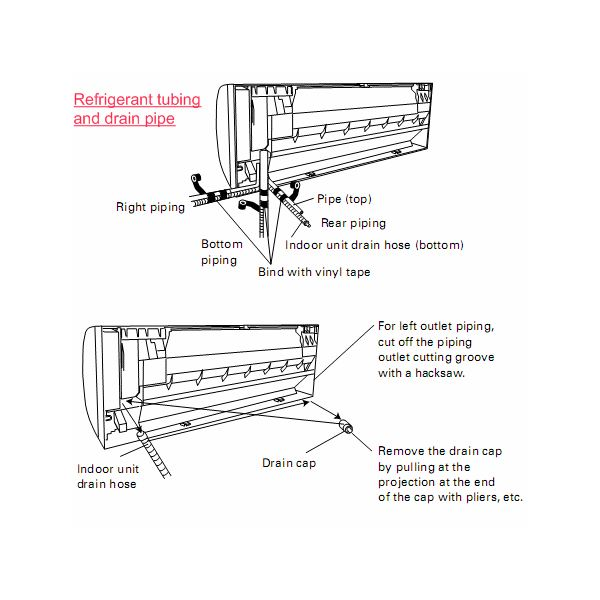 Split Wall Piping Diagram Refrigeration Air Conditioning Online