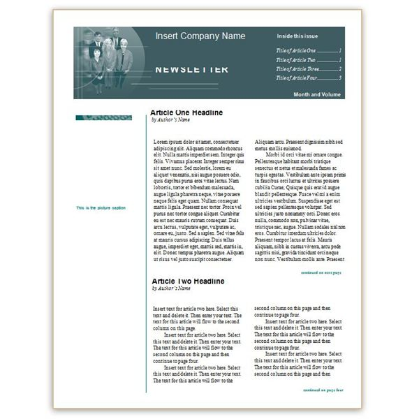 Where to Find Free Church Newsletters Templates for Microsoft Word - word templates for newsletter