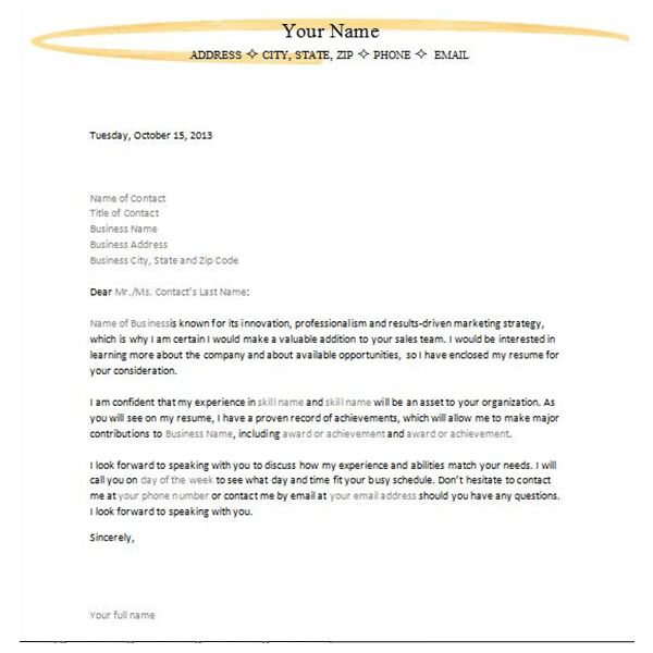 Letter of Interest or Inquiry 4 Sample Downloadable Templates for