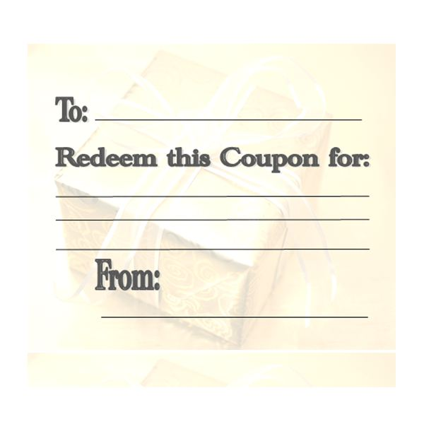 Make Your Own Customizable Coupon Book Free Printables - make your own voucher