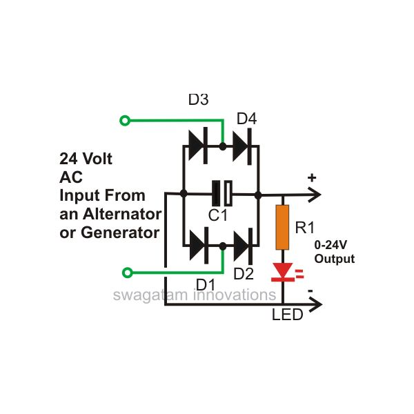 220v dc led indicator circuit diagram