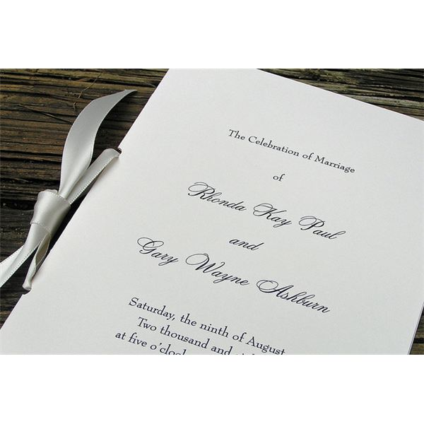 Sample of a Wedding Program Format Free Template to Download