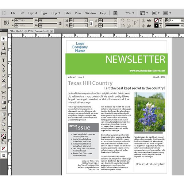 Indesign Free Newsletter Templates Images - Template Design Ideas - free newsletter layouts