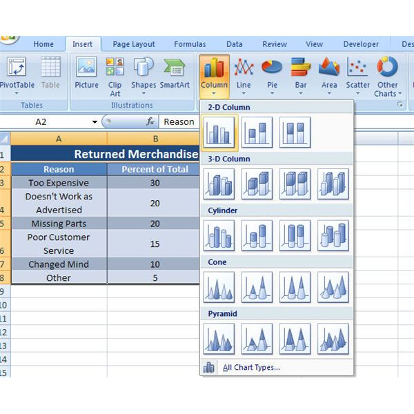 How to Make a Mixed Column and Line Chart in Microsoft Excel 2007