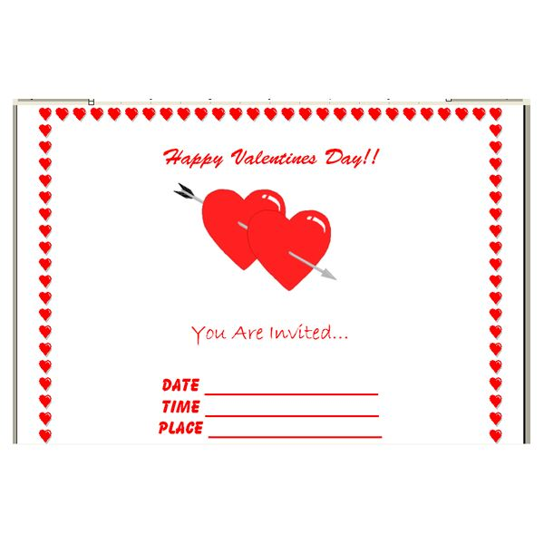 How to Make Your Own Valentineu0027s Day Invitations in Microsoft Word - how to make a party invitation on microsoft word