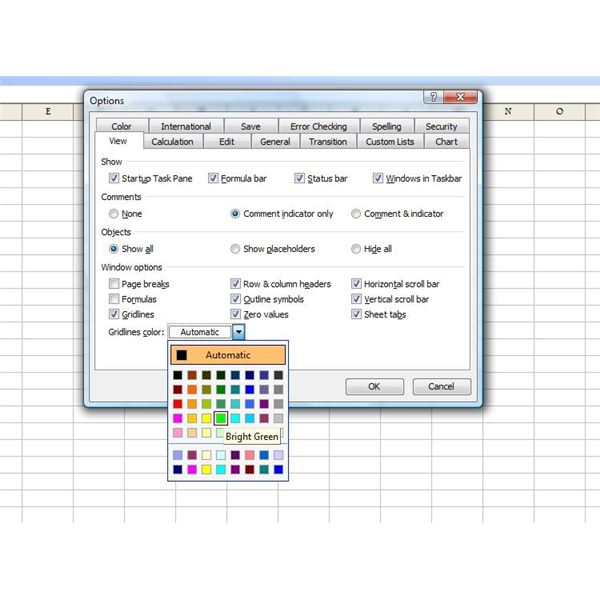 How to Change Excel Default Workbook Settings by Modifying Standard - general color chart template