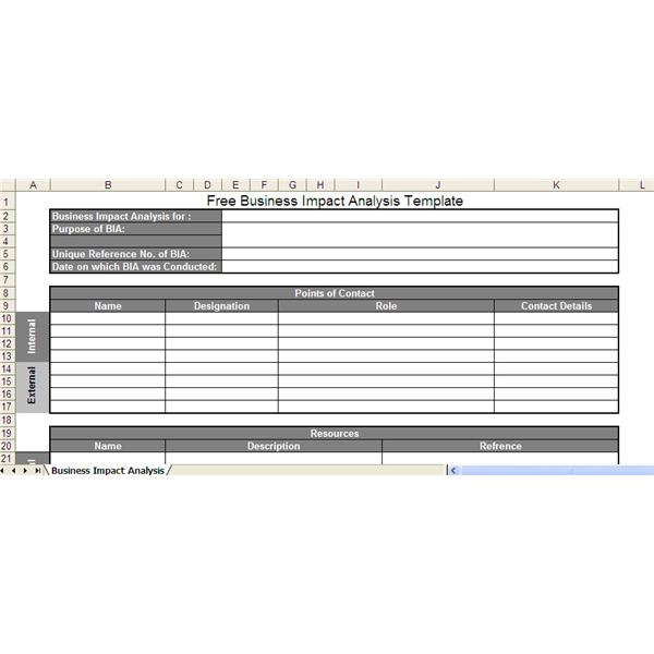 Business Impact Analysis (BIA) Template - Free Excel Download