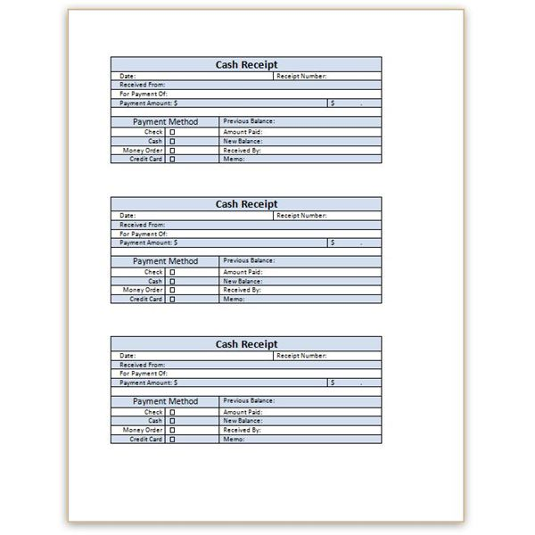 Download a Free Cash Receipt Template for Word or Excel - Cash Receipt Voucher Word Format