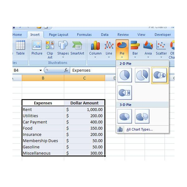 Pie of Pie Charts in Excel 2007 How to Break Out Small Groups of