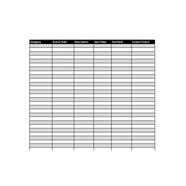 Collection of Excel Project Management Tracking Templates - project tracking template