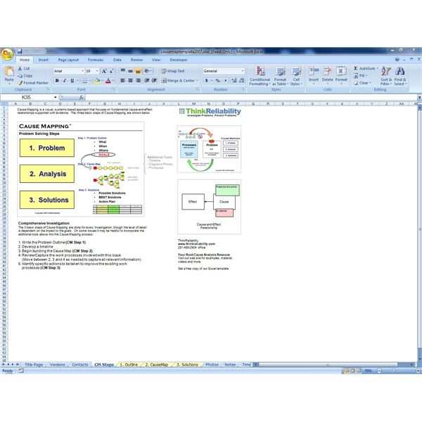 Root Cause Analysis Forms and Diagrams - root cause analysis template