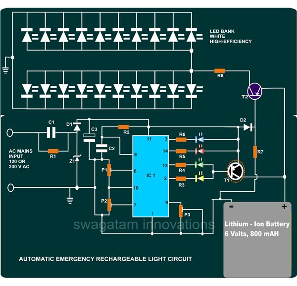 Rechargeable Led Light Circuit Diagram - Rkbl-fotografiede \u2022