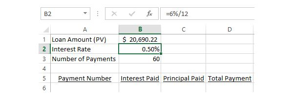 How to Calculate the Interest  Principal Portions of a Monthly - loan interest calculator