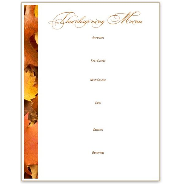 5 Thanksgiving or Harvest-Themed Printables Greeting Card, Banner - free recipe card template for word