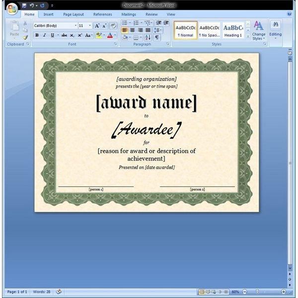 Certificate of Appreciation Template In Word