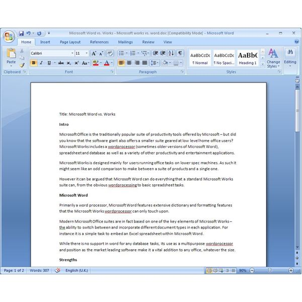 Microsoft Works Vs Word Which Fits Your Needs? - microsoft word