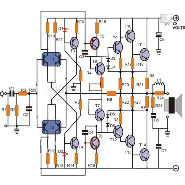 100w Transistor Power Amplifier Schematic Learn How to Build It
