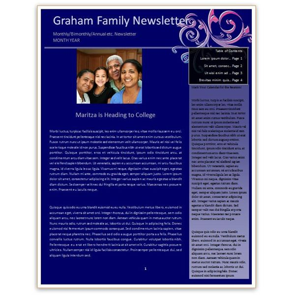 Making a Family Newsletter in Word Tips and Templates to Download - Newsletter Templates Free Word