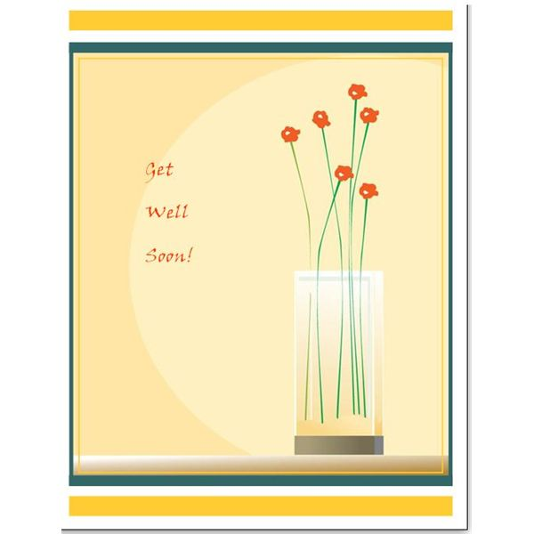 Free Downloads Simple Template for a Greeting Card in Microsoft
