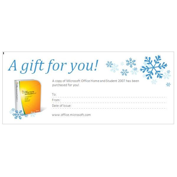 Tips for Creating Gift Certificates in Microsoft Word 2010 - gift certificate word