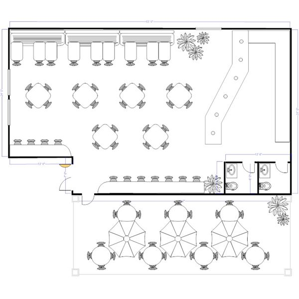 Sample Restaurant Floor Plans to Keep Hungry Customers Satisfied - restaurant table layout templates
