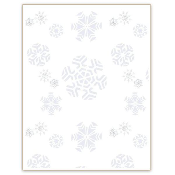 Five Free Winter Backgrounds for Word Documents - snowflake borders for word