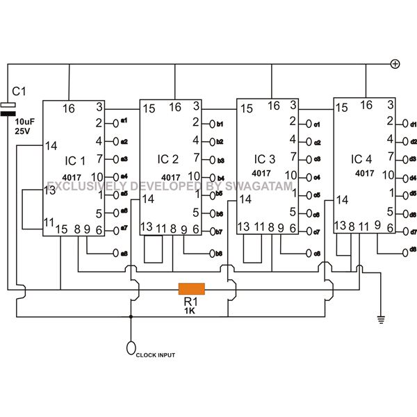 moving led display circuit diagram