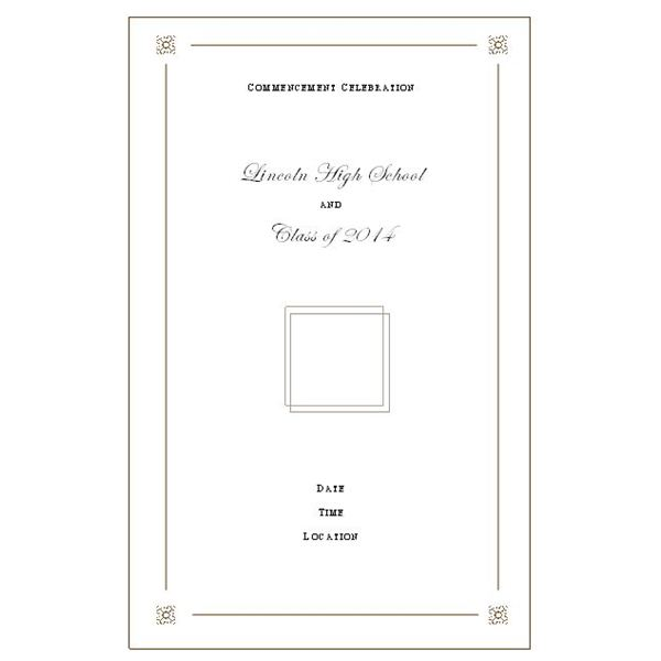 Want to Make Your Own Graduation Program? Templates Make It Easy - graduation program template pdf