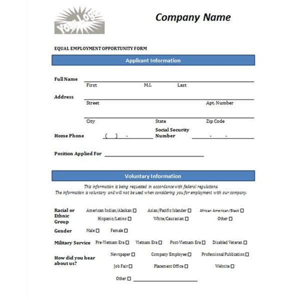 Four Free Downloadable Job Application Templates - information form template word