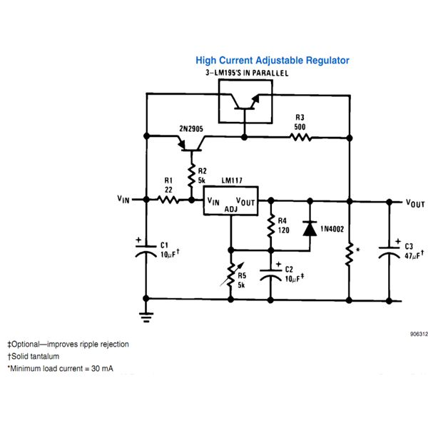 high current voltage regulator circuit