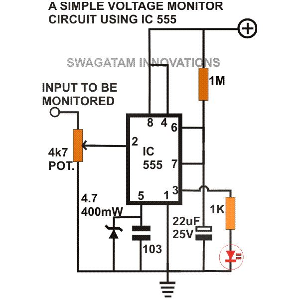 simple pulse generator circuit by ic 555 timer
