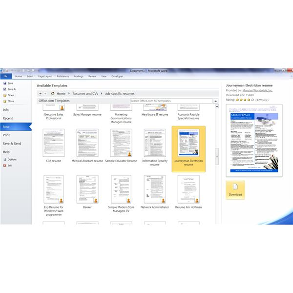 Complete Guide to Microsoft Word Resume Templates - resume templates on microsoft word