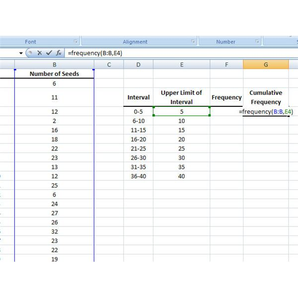 How to Use the Frequency Function in Microsoft Excel