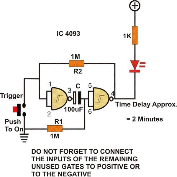timer circuit using not digital logic gate image