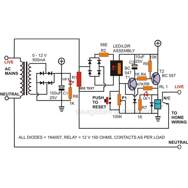 simple circuit diagram relay circuit page 8