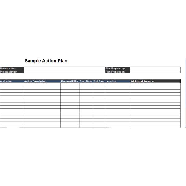 Top 3 Free Sample Action Plans - plan of action template project management