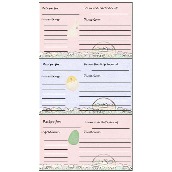 Yummy! 5 Free Printable Recipe Card Templates for Microsoft Word
