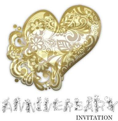 50th Wedding Anniversary Invitations Free Printable Downloads