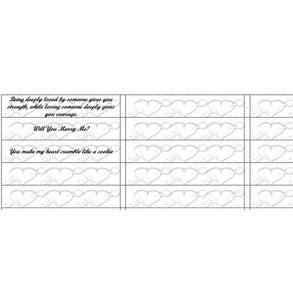 Fun Microsoft Word Templates Fortune Cookie Slips for Party Favors