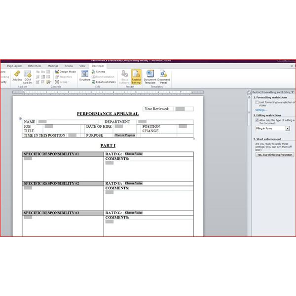 Free Downloadable Performance Appraisal Form - job performance evaluation form templates