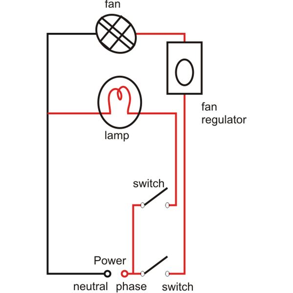 Simple House Wiring System circuit diagram template