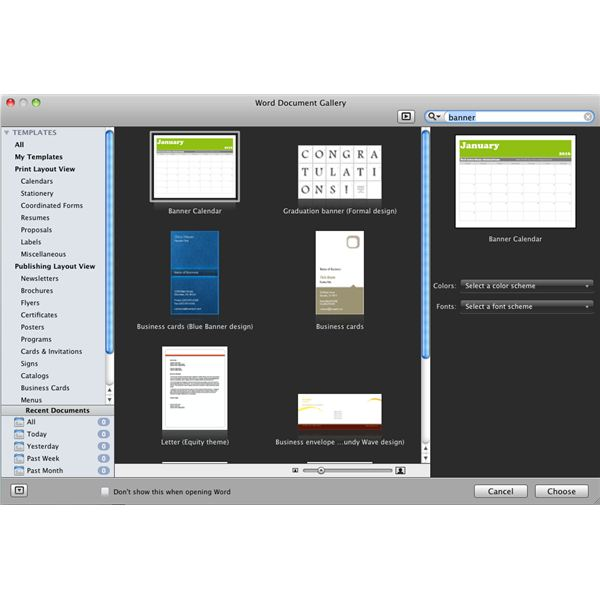 Banner Printing with Microsoft Word for Mac Guide to Making Banners